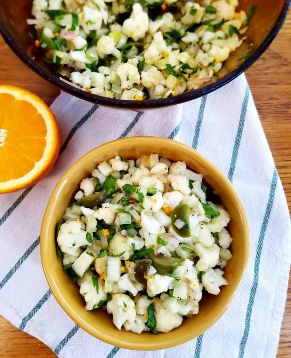 Cauliflower Green Olive Salad
