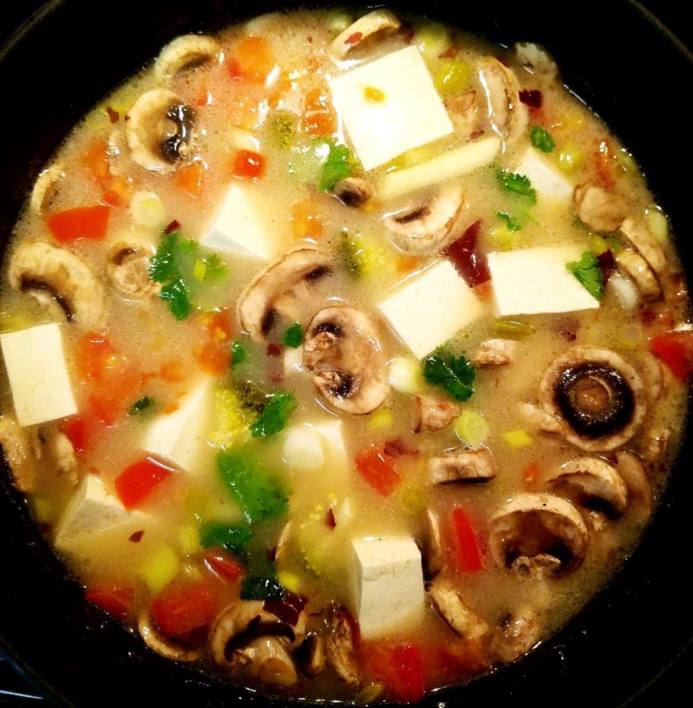 Vegan Thai Coconut Milk Soup with Tofu