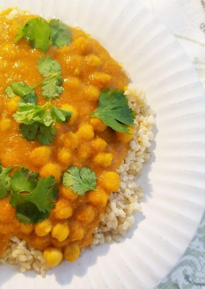 Vegan Coconut Chickpea Curry Recipe