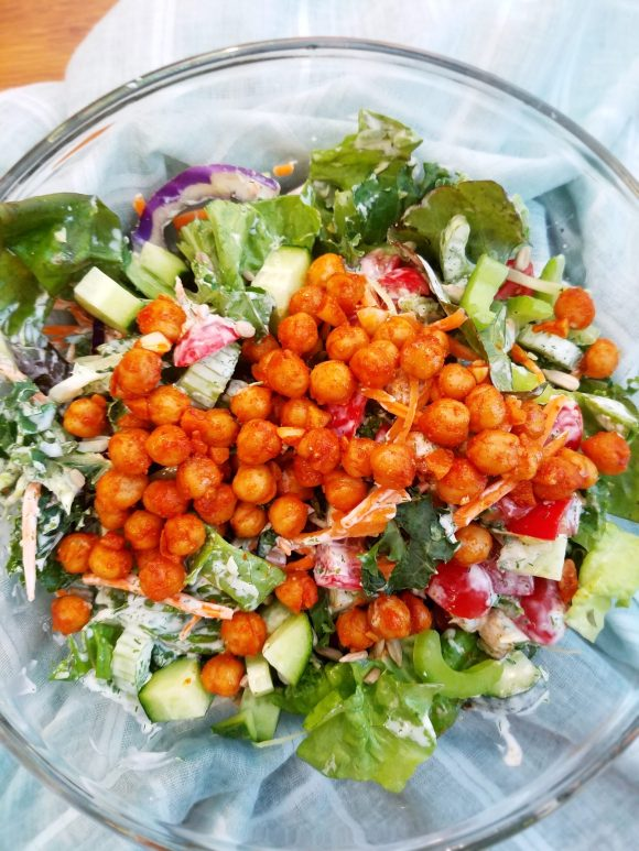 Vegan Chickpea Salad with Dill