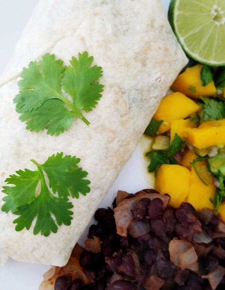 Black Bean Burrito Recipe Vegan