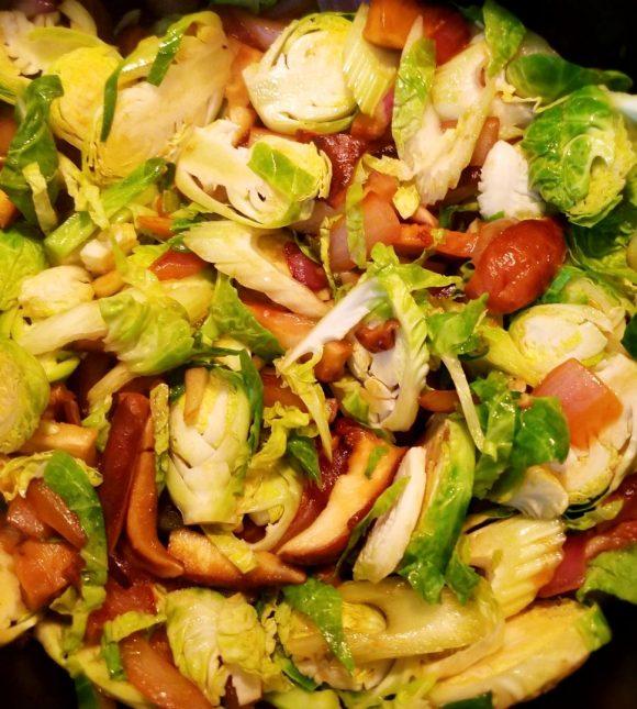 Brussel sprouts shiitake mushroom recipe