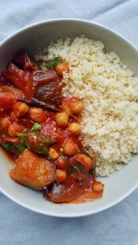 Aubergine Chickpea Stew Recipe Vegan