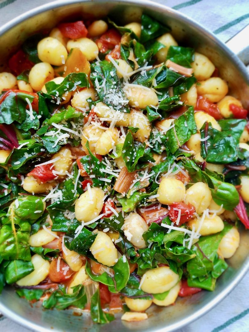 Gnocchi with Swiss Chard in Sauce