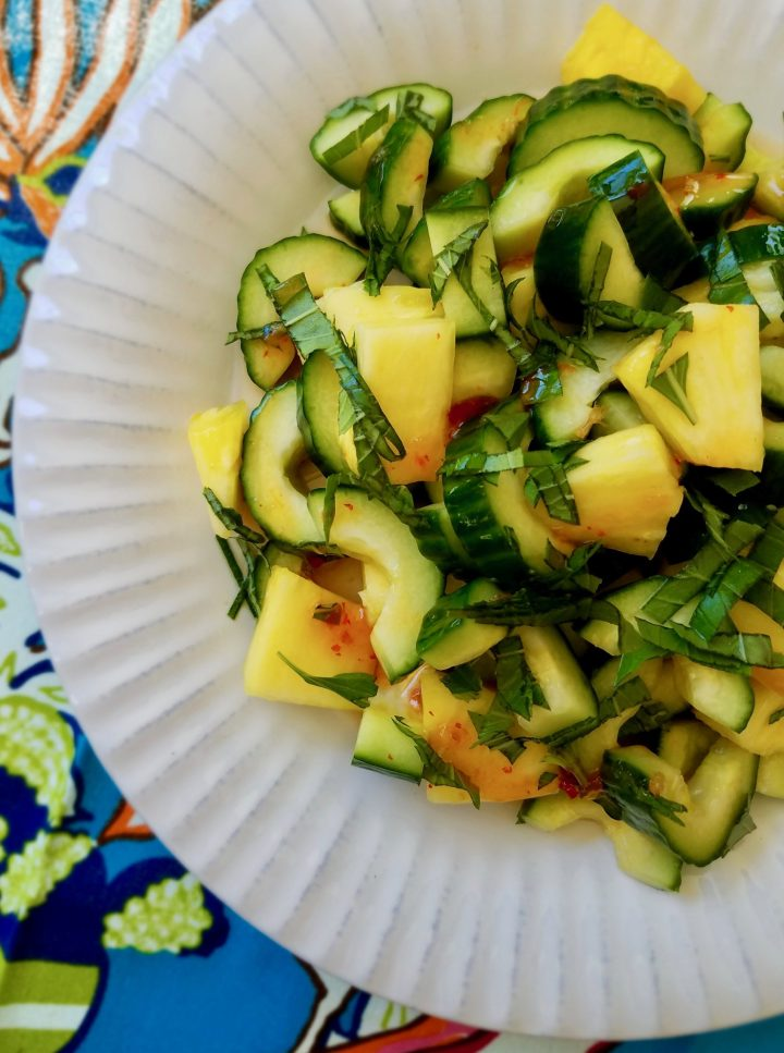 Pineapple Cucumber Salad Thai