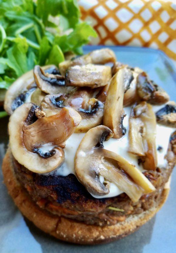 Lentil Walnut Burger Vegan