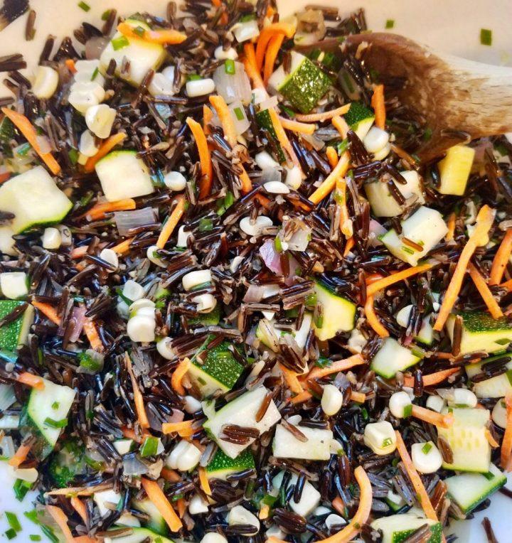Wild Rice Zucchini Salad