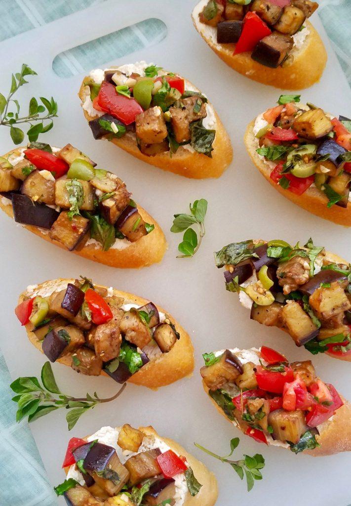 Vegan Crostini Appetizers