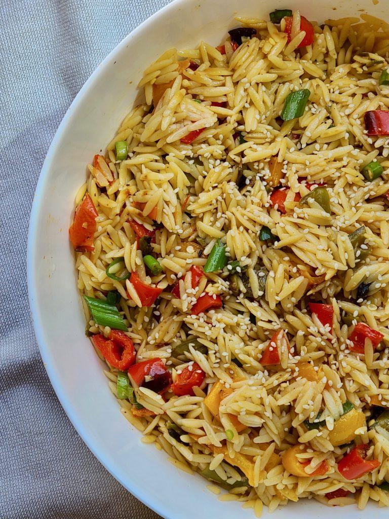 Vegan Orzo Salad Recipe