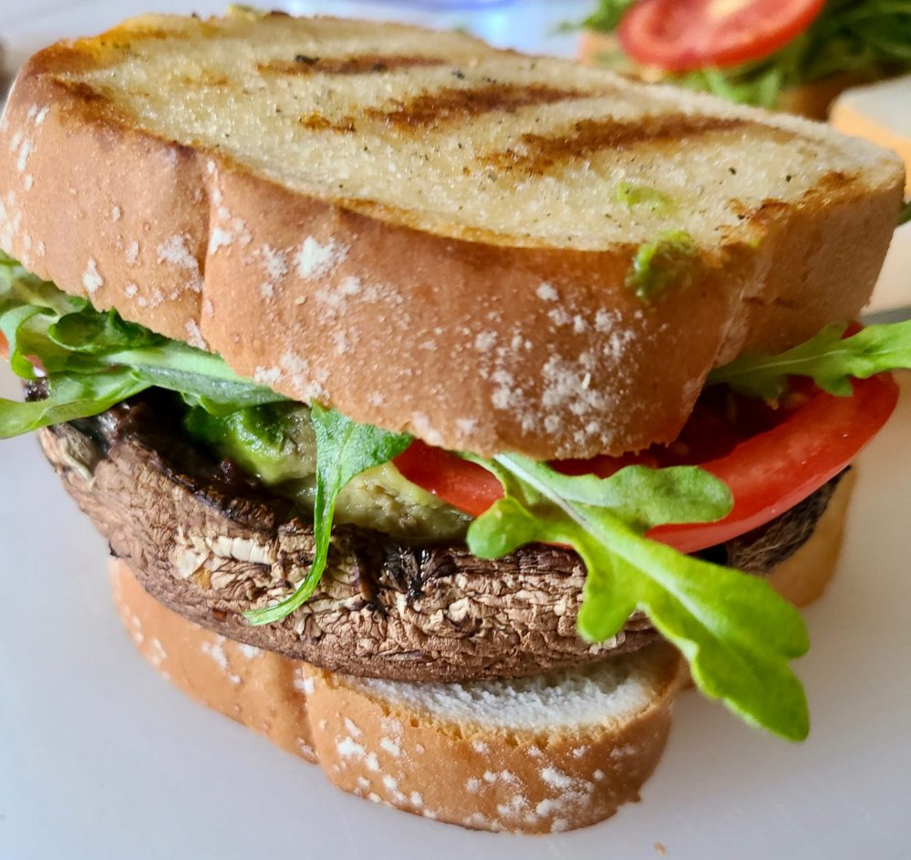 Portobello Mushroom Sandwich Grilled