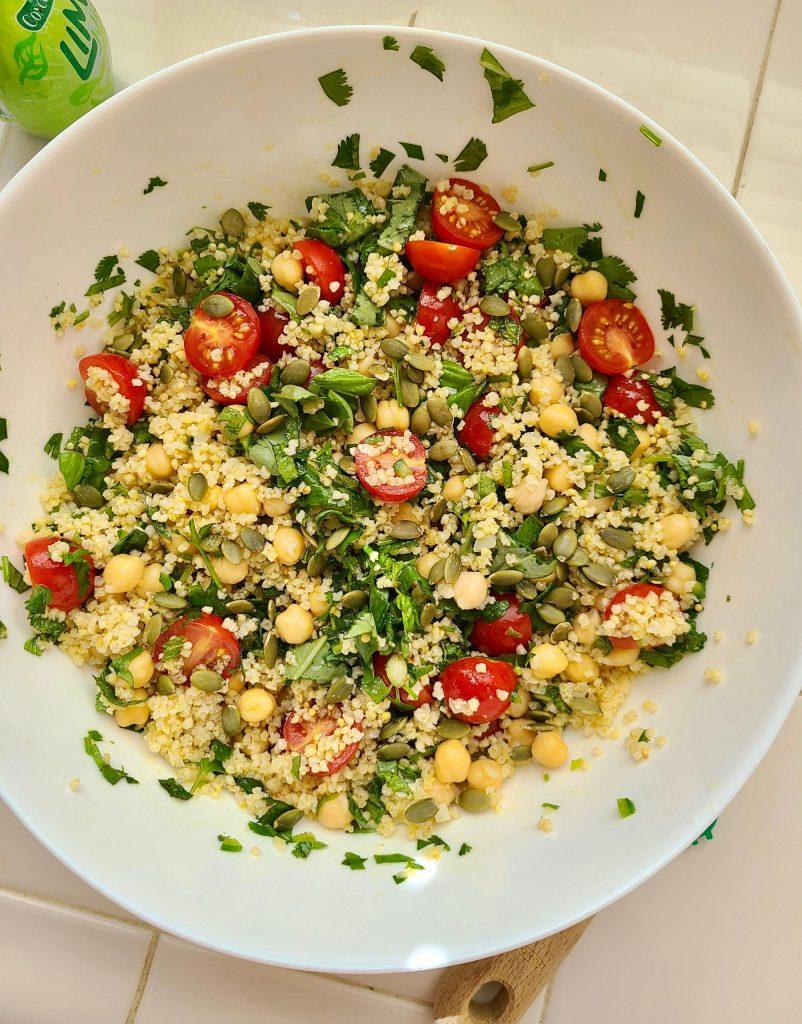 Chickpea Tomato Salad Vegan