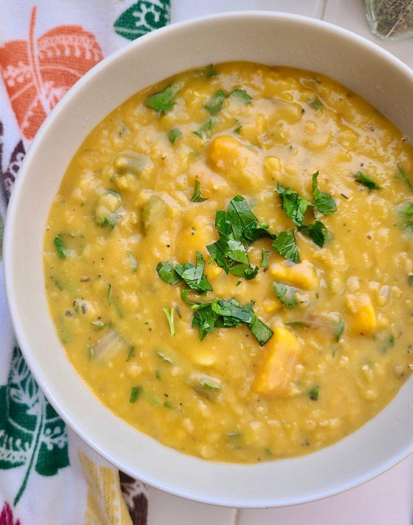 Vegan Lentil Soup without Tomato