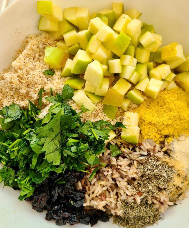 Vegan Wild Rice Cranberry Stuffing