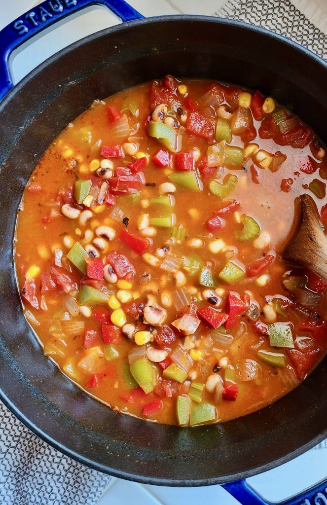 Vegan Cajun Black-Eyed Pea Soup