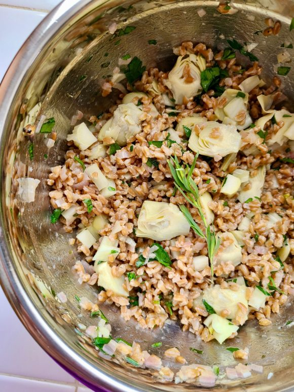 Artichoke and Farro Salad Recipe
