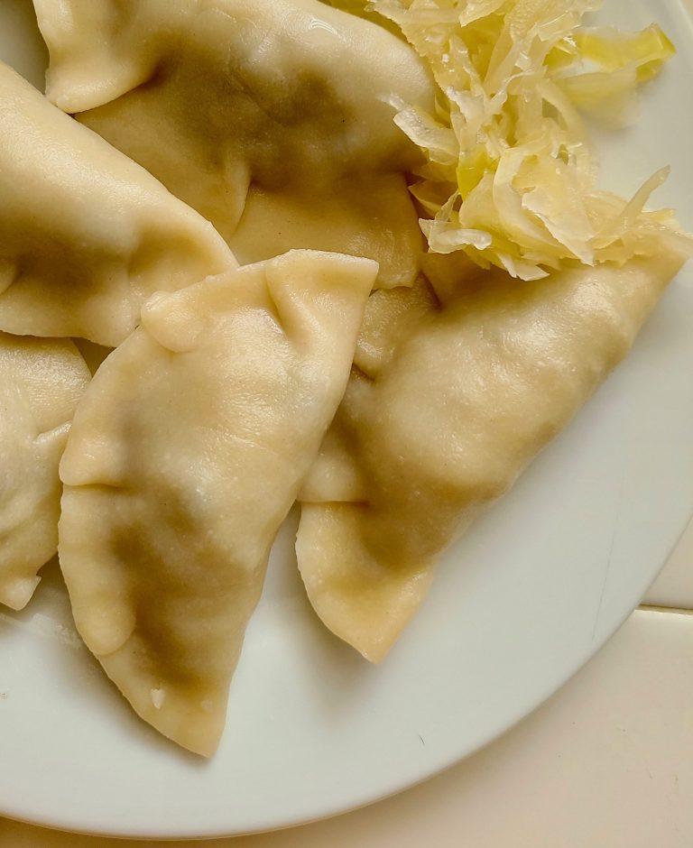 Vegan sauerkraut pierogi recipe homemade