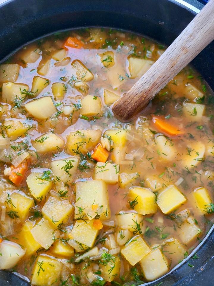 Vegan Golden Beet Soup