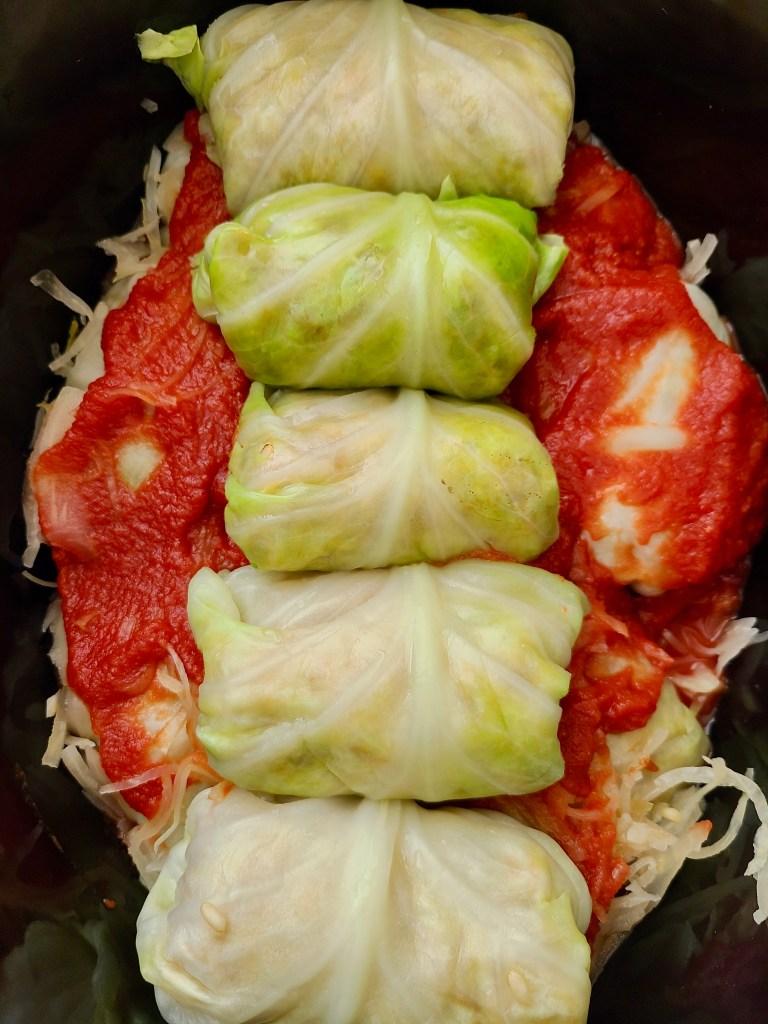 Vegan Cabbage Rolls in Tomato Sauce