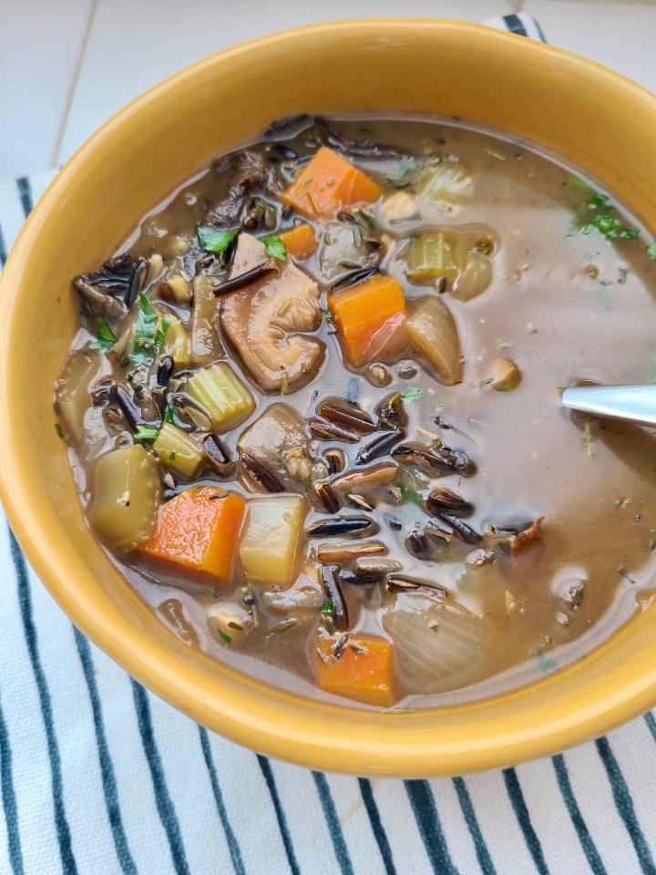 Vegan Mushroom Soup without Cream
