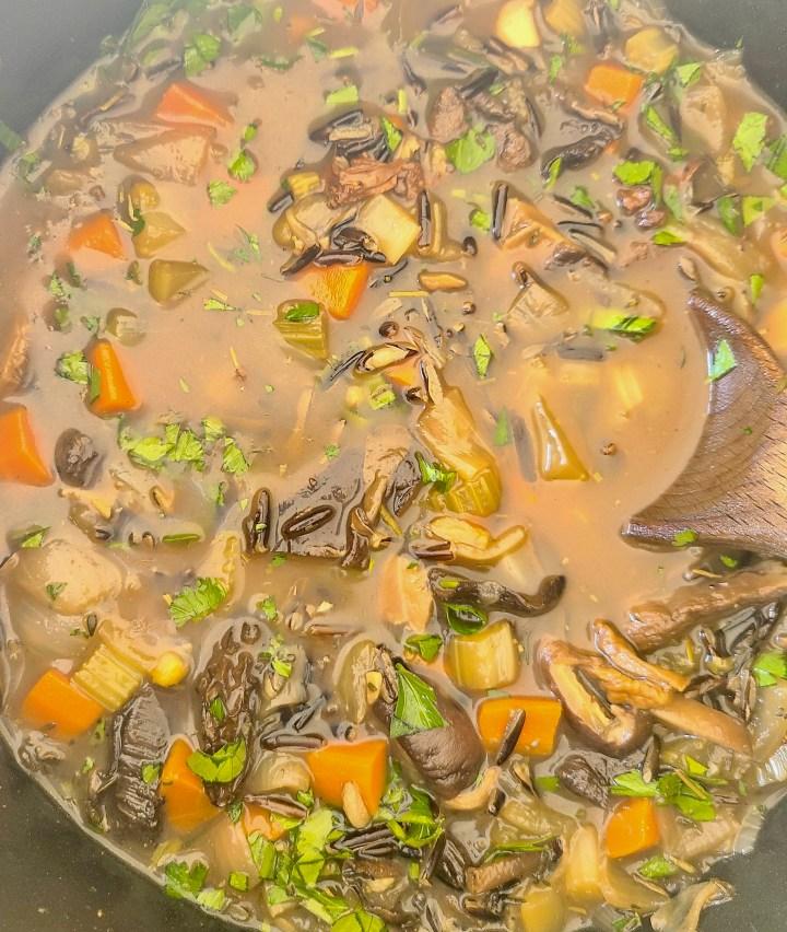 Vegan Mushroom Soup without Coconut Milk