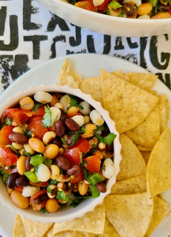 Black Eyed Pea Salad with Italian Dressing
