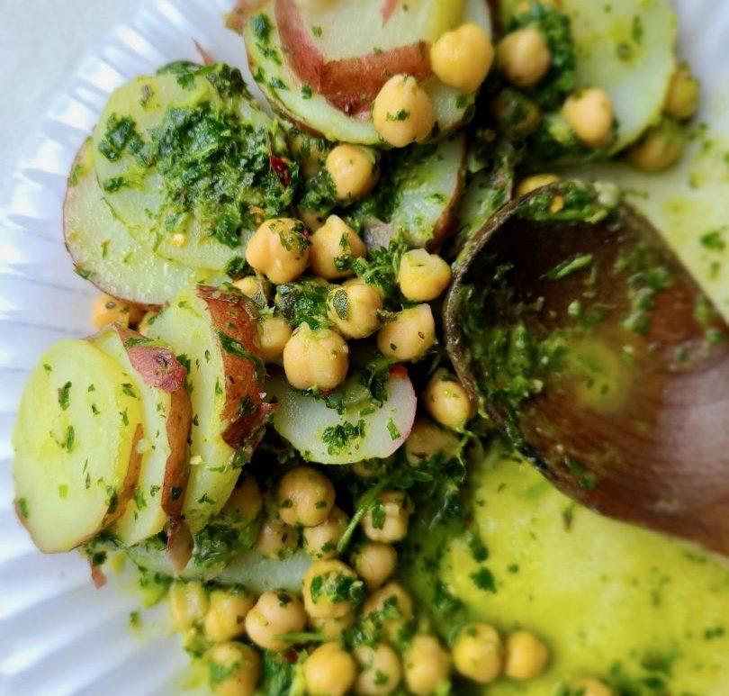 Potato Salad with Chickpeas