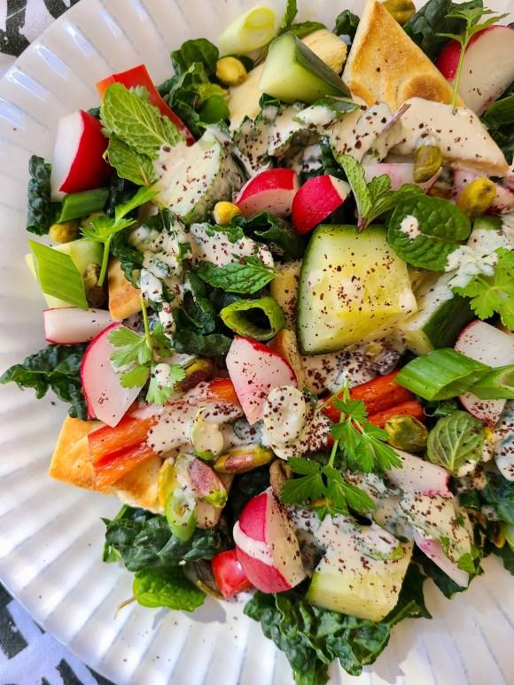 Lemon Tahini Dressing for Salad