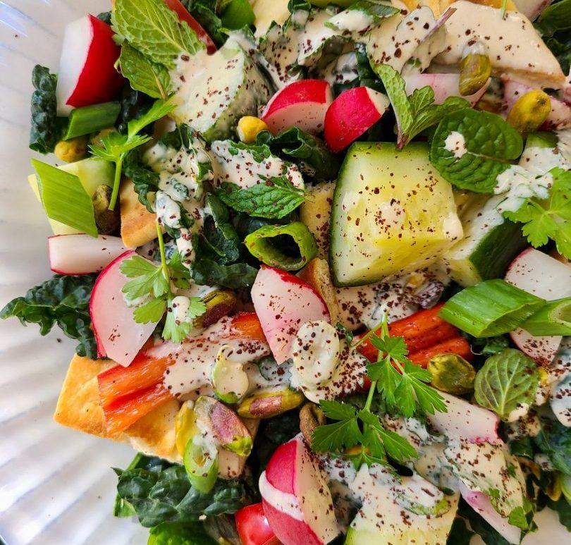 Kale Salad and Lemon Dressing