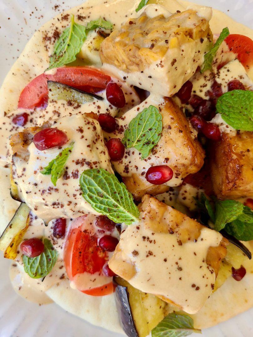 Grilled Tempeh Vegan Dinner