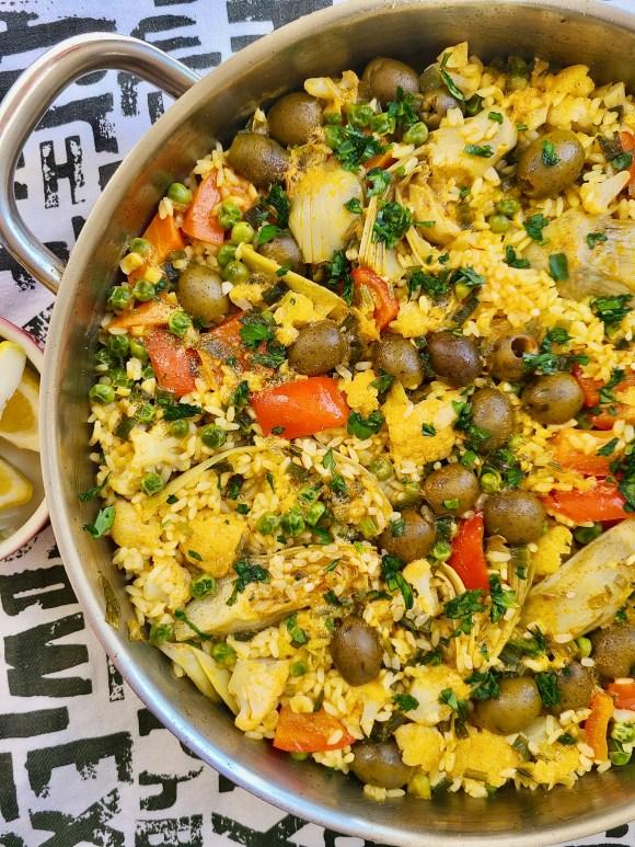 Vegan Paella No Tomato