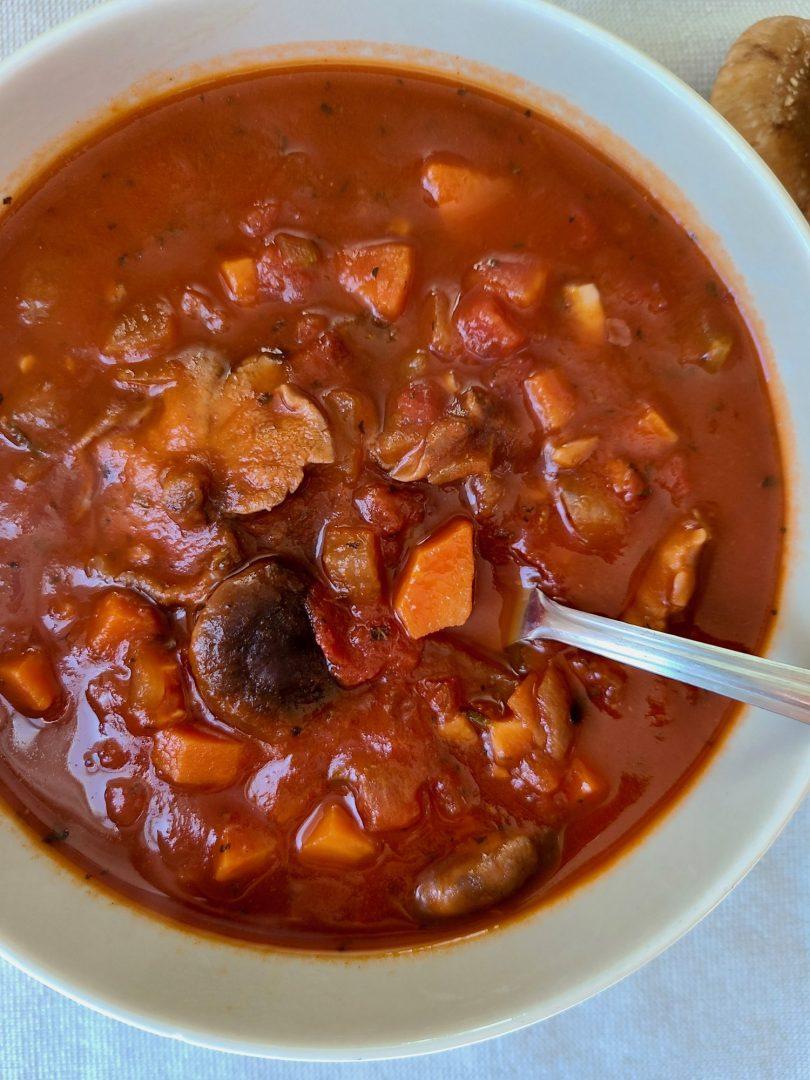 Vegetarian Mushroom Tomato Soup