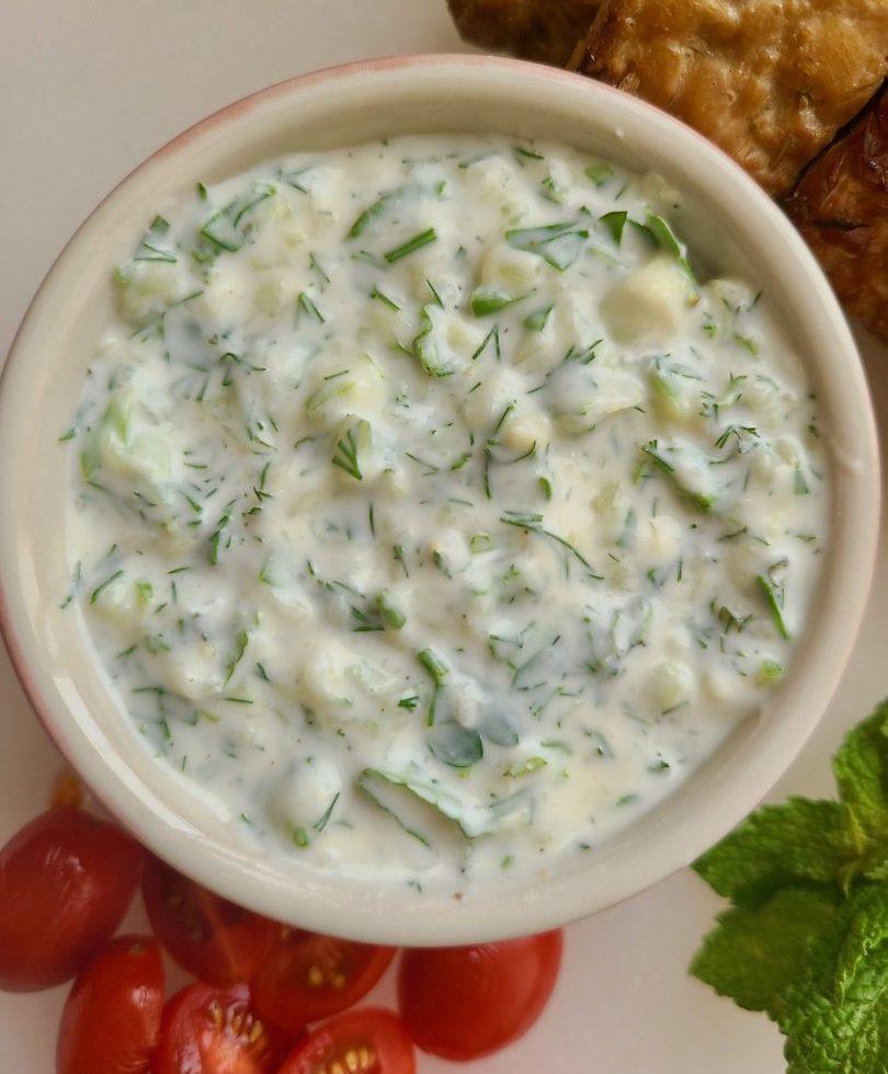 Vegan Tzatziki Sauce with Yogurt