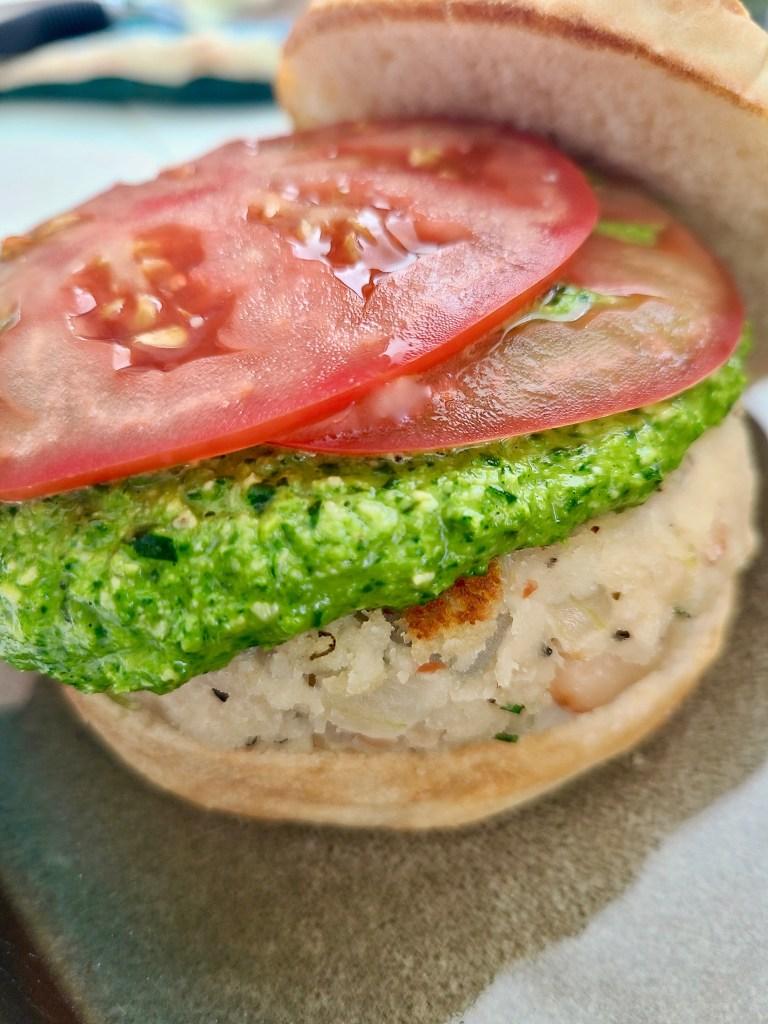 Vegan white beans burger