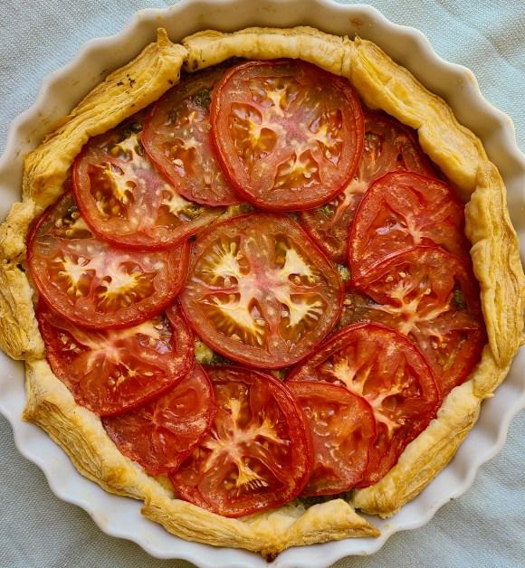Vegan Tomato Tart with Puff Pastry