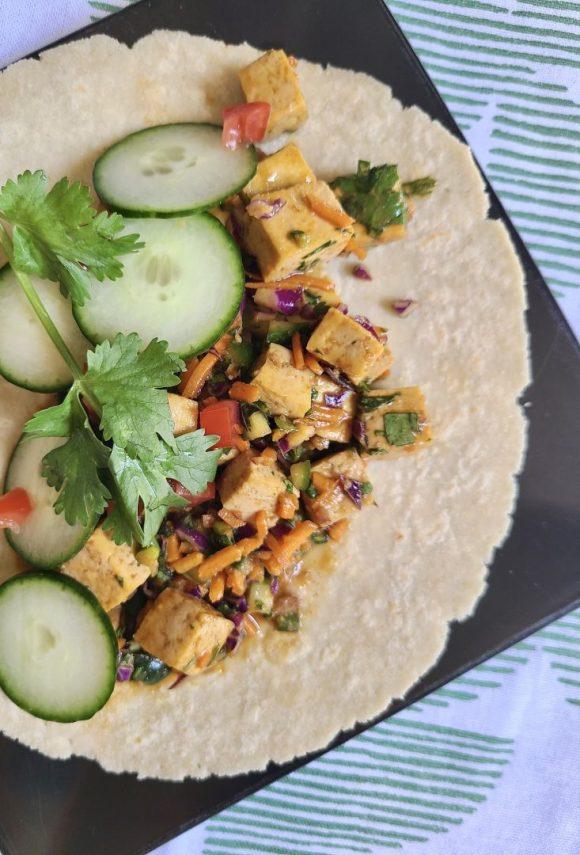 Sriracha Tofu Wrap Vegan