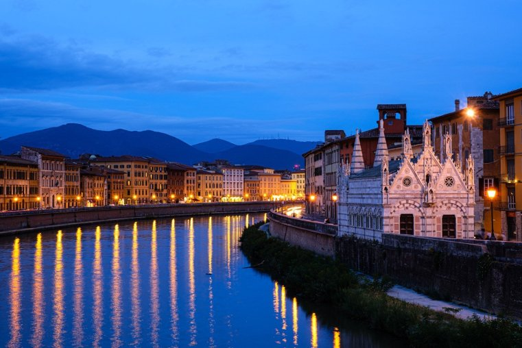 Church of Santa Maria della Spina and Arno River, Pisa
