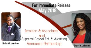 Jemison & Associates along with Supreme Gospel Entertainment & Marketing Announce Partnership