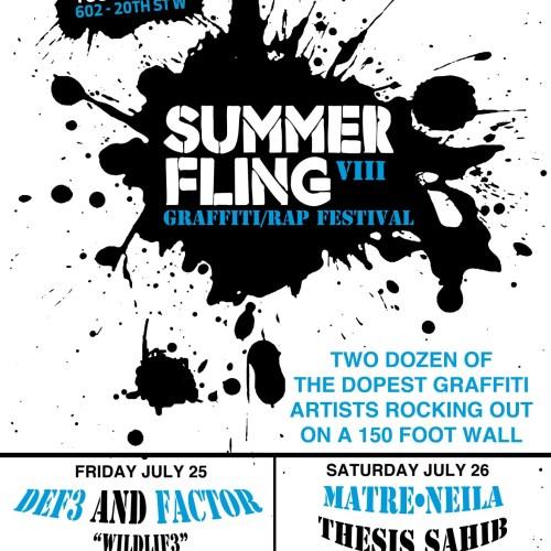 Saskatoon Summer Fling VIII - Graffiti/Rap Festival