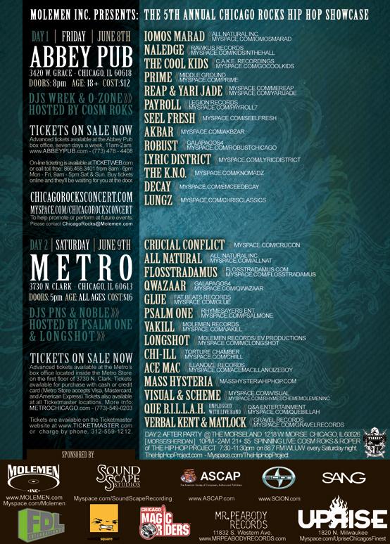 Chicago Rocks: 5th Annual Hip Hop Showcase