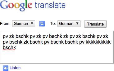 Using Google Translate to Beatbox