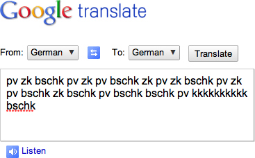 Using Google Translate to Beatbox