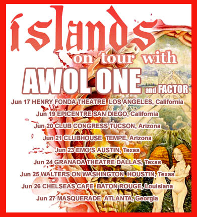 Awol One & Factor on tour withIslands
