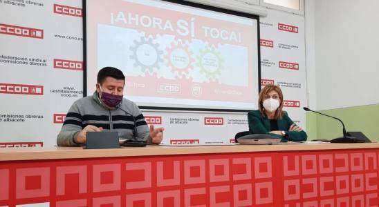 Rueda de prensa de Javier González y Carmen Juste.