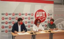 Rueda de prensa de Eduardo Magaldi, Olga Arribas y Javier Flores.