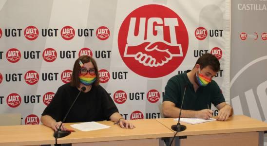 Marta Gil en la rueda de prensa del Día del Orgullo (LGTBI)