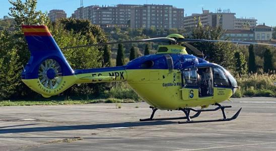 Helicóptero del Sescam