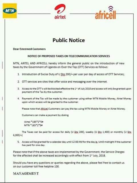 how to pay social media tax uganda