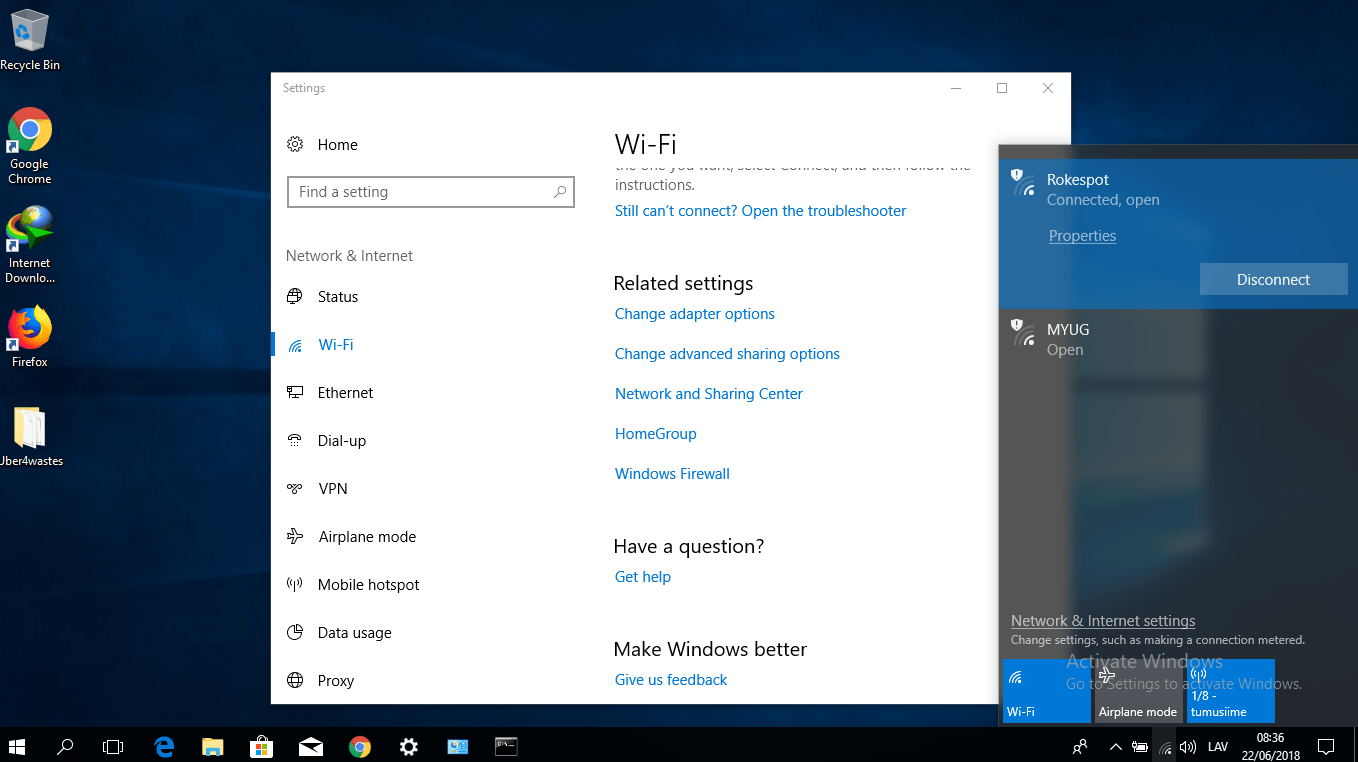 change password windows 10 wifi