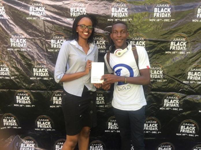 "Meet Ronald Ssenyonjo, winner of the Skyworth 24"" TV at only 5000 UGX."
