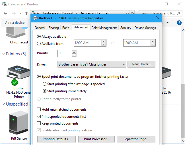 setting up printer on network